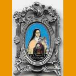 St. Therese Pewter Frame